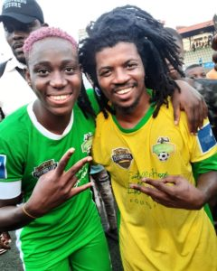 jhybo with asisat oshoala